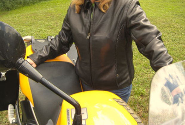 Fox Creek Ladies Leather Motorcycle Jacket