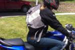 Timbuk2 Messenger bag on a motorcycle