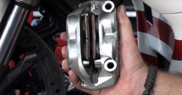 how to replace motorcycle brake pads