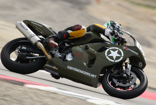 SV650 Army Green Race Bike
