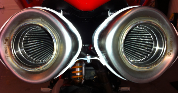 Motorcycle Exhaust Slipon Ducati 848 Arrow