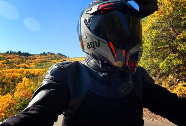 riding motorcycling during fall colors